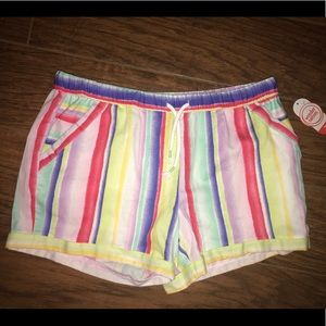 Brand new striped colors pull-on shorts XL